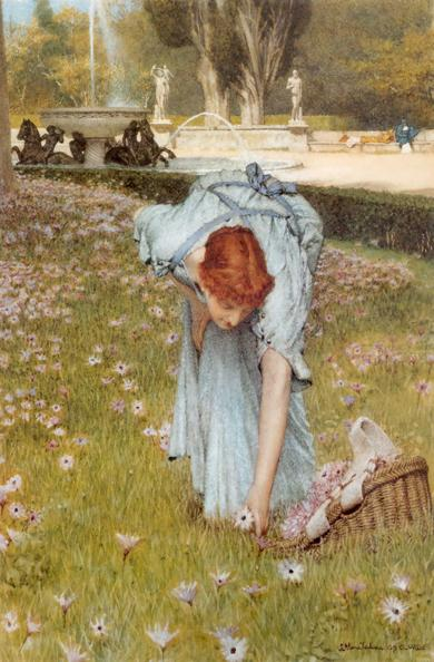 春天的花园 油画 油画 手绘 油画 客厅 装饰画