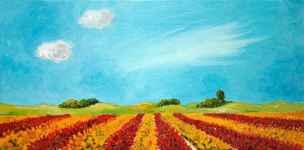 荷兰风景 油画 油画 客厅 现代 装饰画