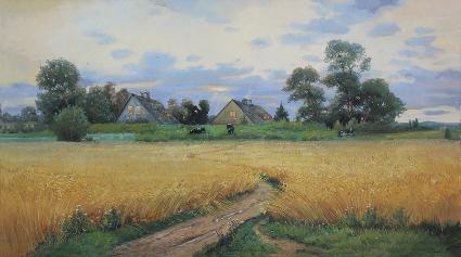 欧美庄园 油画 欧式油画