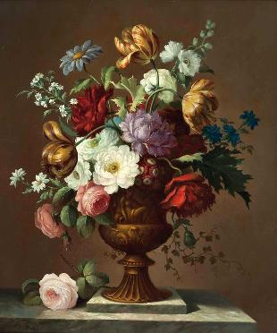 花卉静物 油画 欧式油画图片