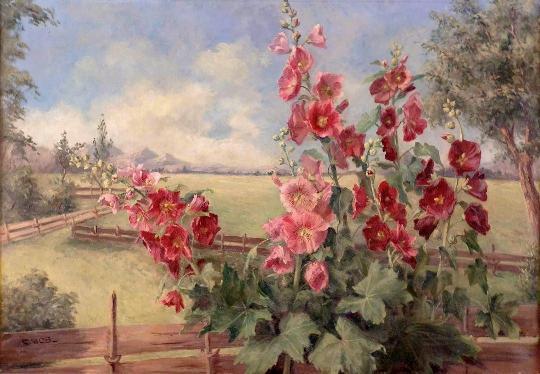 夏天的花园 油画 油画 手绘 手绘油画 装饰画