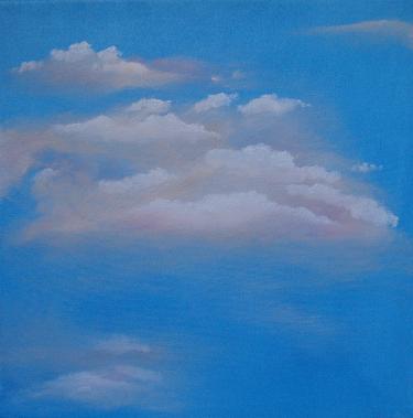 蓝天白云 油画 油画 手绘 油画 客厅 装饰画