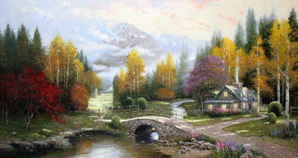 秋天里的童话 油画 欧式油画