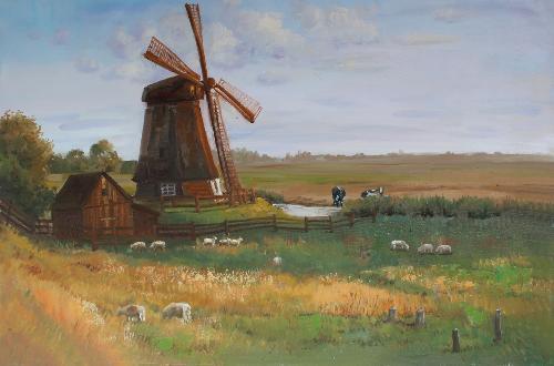 农场 油画 欧式油画 油画 欧式 客厅 装饰画