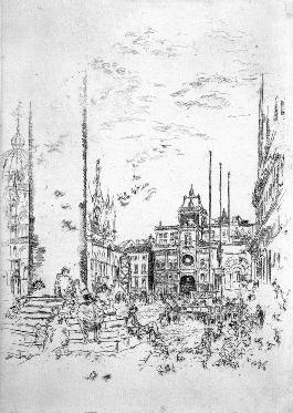 威尼斯_素描_素描画_梵高_铅笔素描