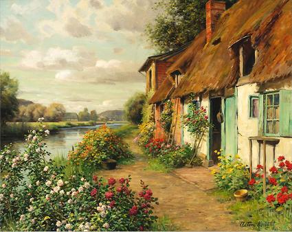 戴安娜的小屋_油画_欧式油画_欧式风景油.